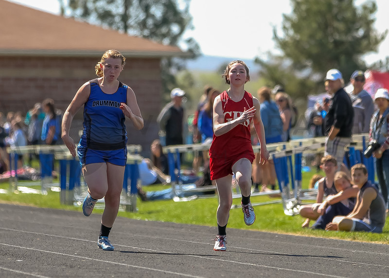 2016 Missoula Invite - 100m dash - girls (f)-13