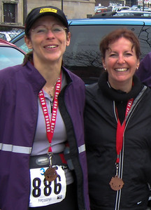 Kim &  Shelley Completion of the Around The Bay 30K Race - Hamilton, Ontario - March 2007.