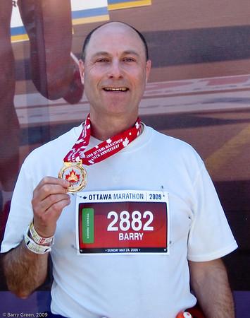 Ottawa Marathon - 2009, Showing off my bling! 20090524-IMG_1970