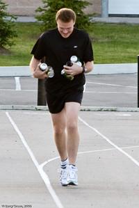 Peter running late & juggling beer! 20080731-IMG_3065