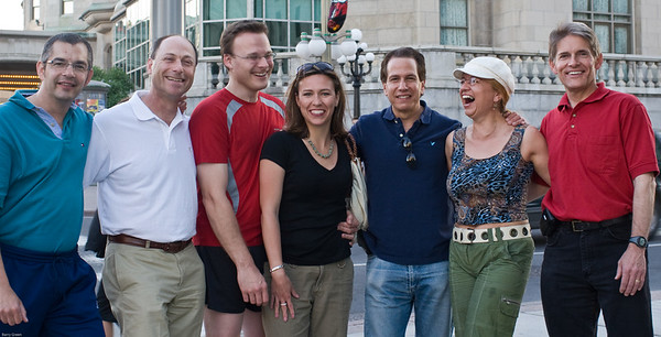 The night before the Ottawa Marathon - May 2007 Bernie, Barry, Peter, Tracy, Marc, Karin, John