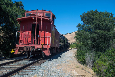 "The last run of 2472 - she will go up to Dresser Bridge and back, then the crew will couple the Southern Pacific Business car ""Oakland"" onto the caboose and head up to Brightside Yard to end the day."
