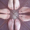 Can you guess which ones are my feet?