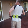 It should work ... but why not using a hydration vest, right? :)