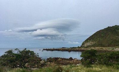 Crazy clouds seen from Tarakena Bay