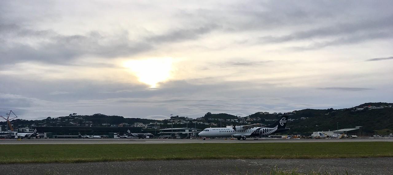 Cruising past the airport