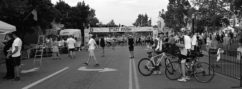 Before the half marathon start.