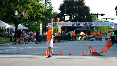 The finish line ready for runners.