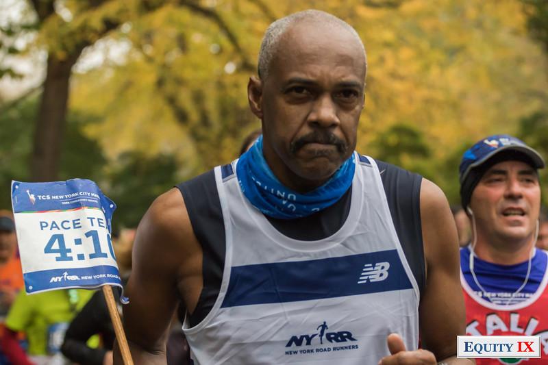 2017 NYC Marathon - Mile 25 - Philippe Day - Race Time 4:10 © Equity IX - SportsOgram