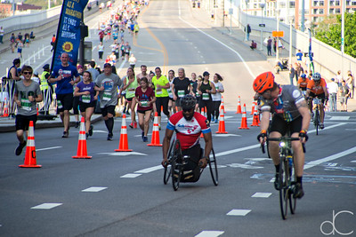 Marathon Wheeler Leader, Rite Aid Marathon, Half Marathon, and 10K, May 19, 2019.