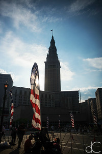 The Terminal Tower, Rite Aid Cleveland Marathon, Half Marathon and 10K, May 19, 2019.