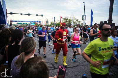 Start of the Rite Aid Cleveland Marathon, Half Marathon, and 10K, May 19, 2019.