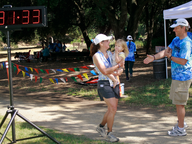 Sheri Suomela (39) finishes in 123rd place at 8:31:33. Sheri was also an early starter.