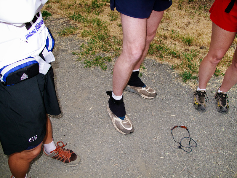 Shalimar took pictures of our legs before the race. Mine are the darkest. ;-)
