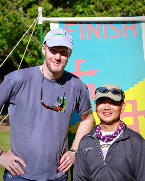 Don and Brian at the finish.
