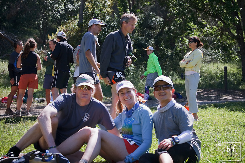 Don, Gillian, and me relaxing after the race. I'm glad we're all sitting. No shrinking this year! ;-)