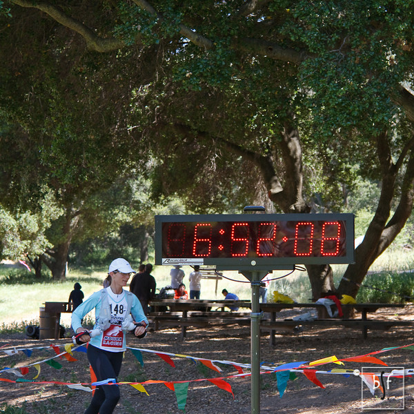 Roberta McGraw, age 48, 6:52:09. I only have until next year to match her time. ;-)
