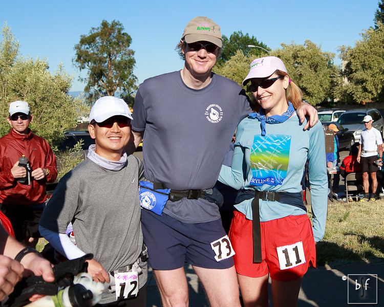 Me, Don, and Gillian right before the start.