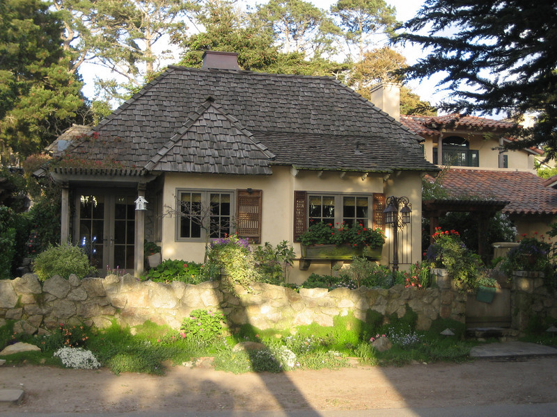 One of the many storybook homes that are in this little slice of hevan called Carmel by the Sea.