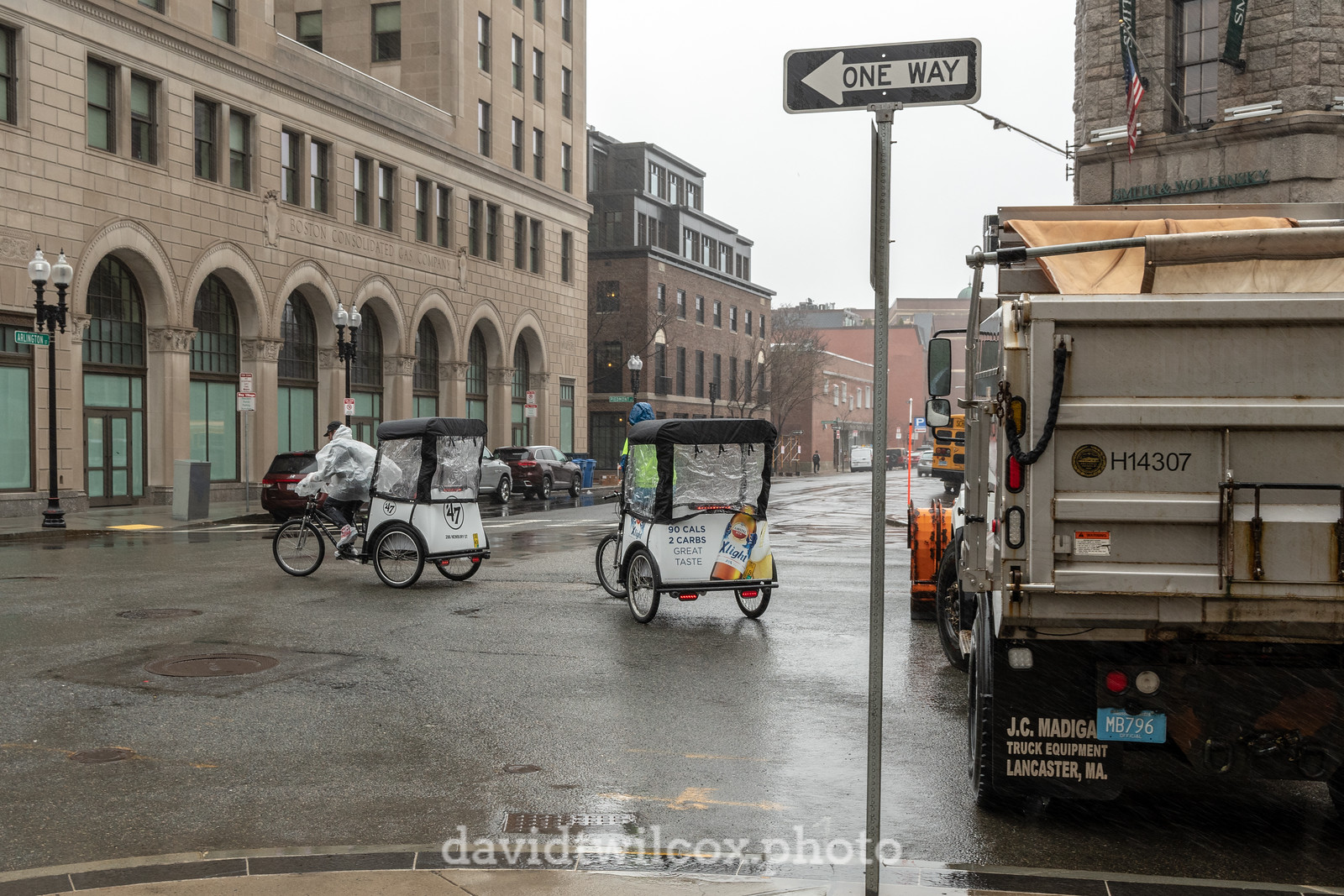Pedicabs and Dump Truck
