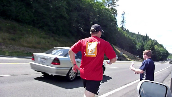 Doug's First Leg - Watch him hurl the water bottle!
