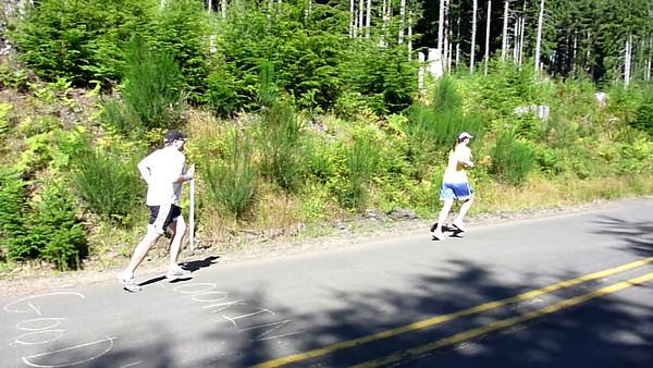 Doug's last (uphill!) leg passes the Impromptu Rendezvous