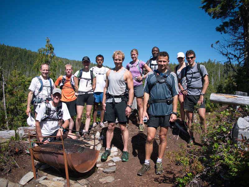 "The 30km ""Kludahk Traverse"" group."