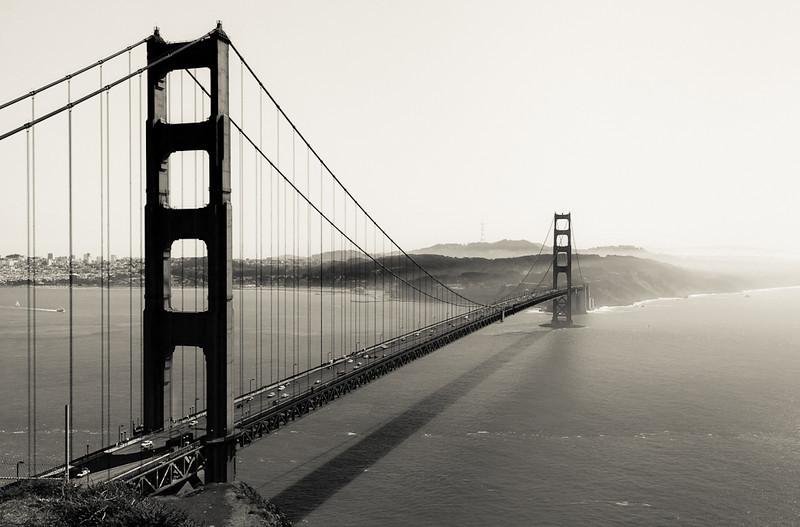 The Golden Gate as seen from Battery Spencer at Fort Baker.