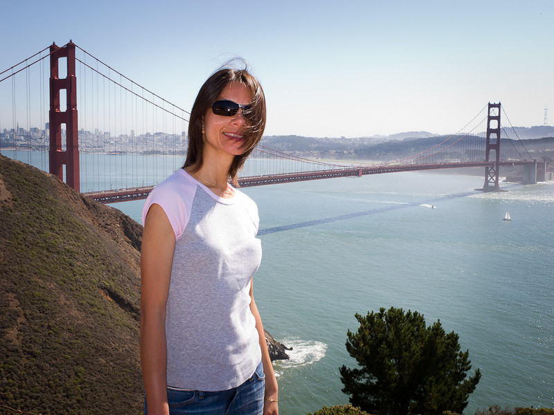 Shalimar and the Golden Gate Bridge.
