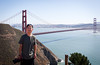 Brian and the Golden Gate Bridge. Photo by Shalimar.