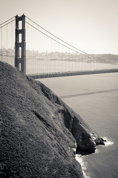 The north end of the Golden Gate.