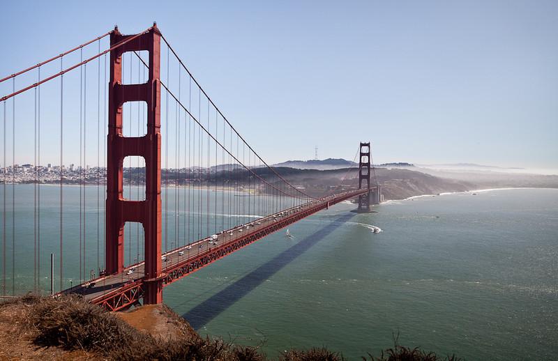 The Golden Gate Bridge as seen from Battery Spencer at Fort Baker.