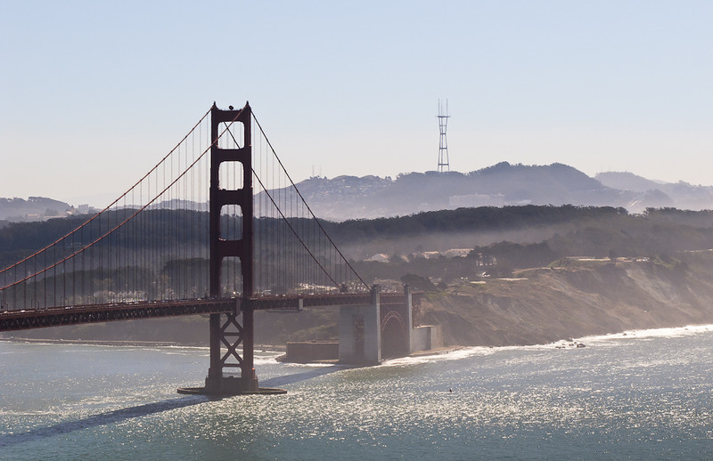 Shalimar's version of the south end of the Golden Gate. Fort Point is below the bridge. Photo by Shalimar.