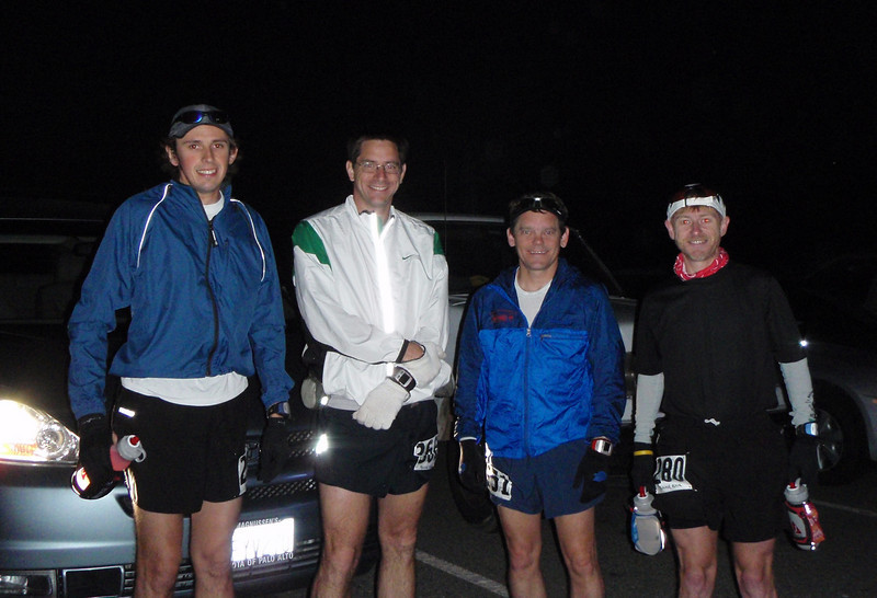 Car Poolers and Runners: Mike, Charles, Craig, and Jean.