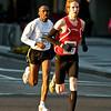National Marathon: Half Marathon 2nd place Adam Hortian (Waterloo ON CAN)  near the 10K mark