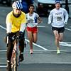 National Marathon: Half Marathon 2nd place Tezeta Dengersa (Burtonsville Marylan MD) near the 10K mark