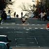 National Marathon: Wheelchair racer crests the hill