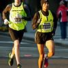 National Marathon: Half Marathon Birhanu Feysa (#16880, Ellicott City MD) and 3rd place Mark Fruin (#5233, Bloomington IN) near the 10K mark