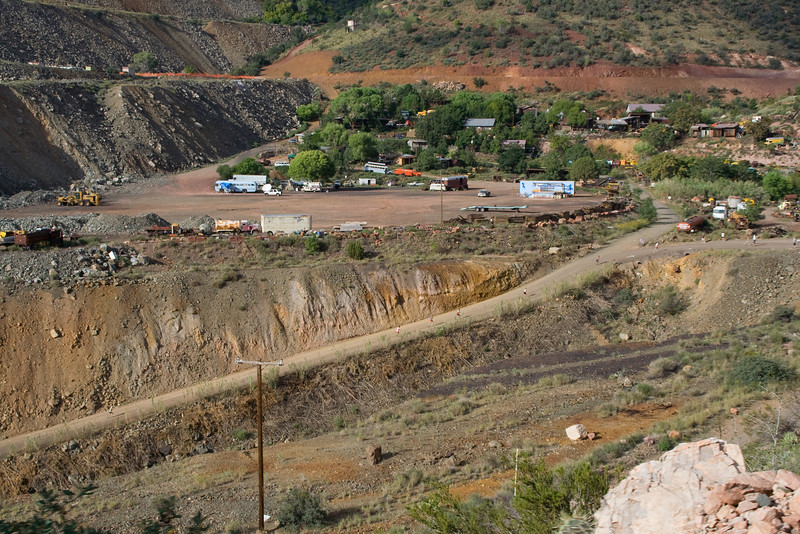 Runners heading up to the Gold King Mine and Ghost Town
