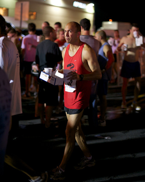 Rockville Twilight 8k: Post race beer and a box of donuts