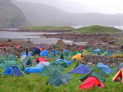 Tent city at Glencoul