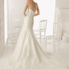 lace; sweetheart; neckline; mermaid; style; removeable; cap; sleeves; 2013; wedding; dress