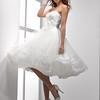 eweddingdressoutlet; Flowing; Tulle; Embellished; Lace; Scoop; Neckline; Tea; length;