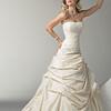 Lace; Bustled; Sonata; Taffeta; Strapless; line; Wedding; Dress; original;