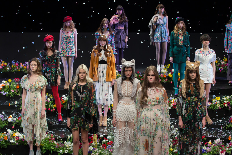 Finale of the Sretsis A/W 2015-16 runway show at MBFW Tokyo