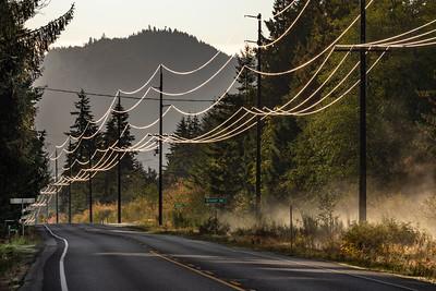 Morning light, State Hwy 112 near Joyce, Washington