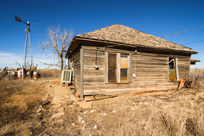 Abandoned house in rural Texas