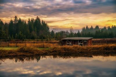 Winter Sunrise; Joyce Valley, Washington