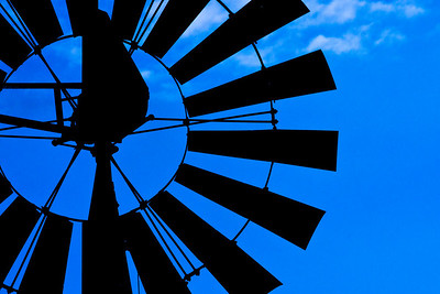 Windmill along Hwy 16, north of Llano, Texas