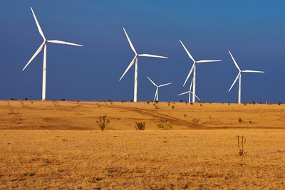 Wind farm just north of Vega, Texas